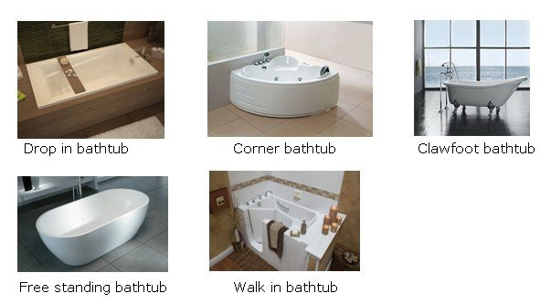 Bathtub styles for Drop in tub vs freestanding