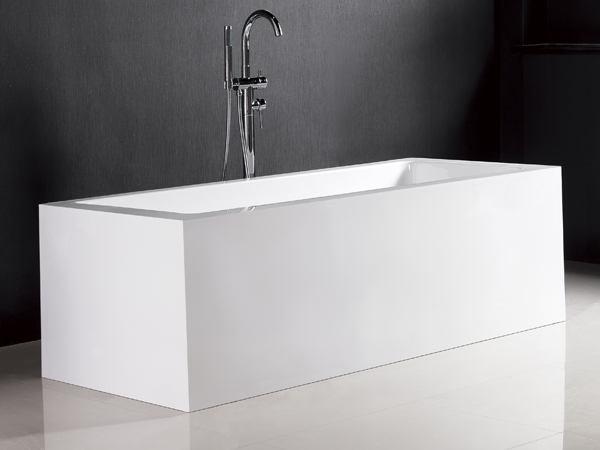 Cube freestanding bath 1500 cube bath for Steel bath vs acrylic