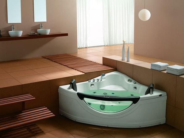 massage corner bathtub