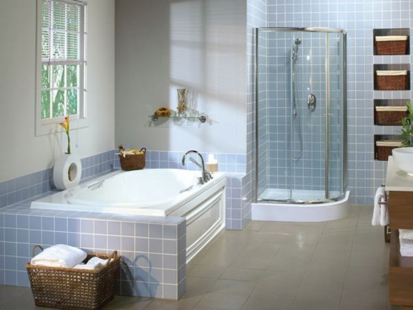 drop in bathtub, shower enclosure